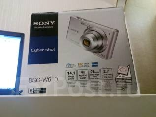 Sony Cyber-shot DSC-W610. 10 - 14.9 Мп, зум: 4х
