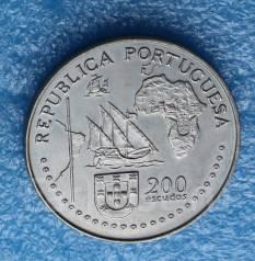 Португалия 200 эскудо 1994 гг Великие открытия. Тордесийский договор.