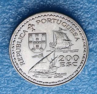 Португалия 200 эскудо 1994 гг Великие открытия. Энрике Навигатор.