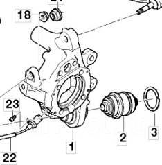 Рычаг, кулак поворотный. BMW 7-Series, E65, E66, E67 BMW 6-Series, E63, E64 BMW 5-Series, E39, E60, E61 Двигатели: M62TUB44, M47D20, M47TU2D20, M51D25...