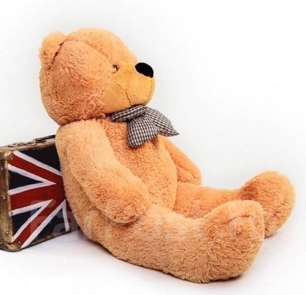 Мягкий! Медведь! Плюшевый большой медведь Нестор 1.8 м три цвета 500шт