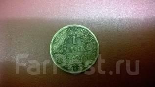 1 марка 1875 год Германия . Серебро