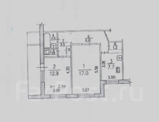 2-комнатная, некрасовка улица Школьная15. Индустриальный, частное лицо, 56 кв.м.