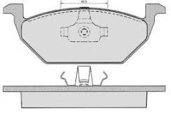 КОЛОДКИ ТОРМОЗНЫЕ ПЕРЕДНИЕ VW Polo 1.0i-1.9SDi 96-01/Lupo 1.0i-1.7SDi 97