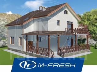 M-fresh Present! -зеркальный (Проект дома с 5 комнатами! ). 200-300 кв. м., 2 этажа, 5 комнат, бетон