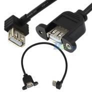USB 2.0 А гнездо на панель , чтобы подключить USB женский 90 град.