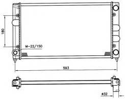 РАДИАТОР 430x322 1.1/1.3/1.3i VW GOLF II 83-92