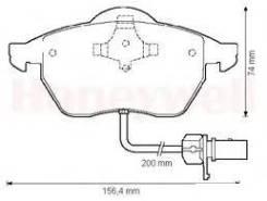 Колодки тормозные передние AUDI A4/A4 ALLROAD/A5/Q5 1.8-3.2 07