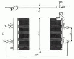 Радиатор кондиционера seat cordoba/ibiza iv 2/02->