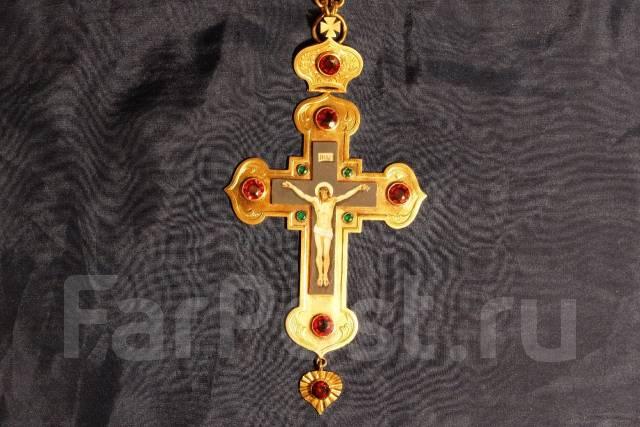 Наградной наперсный крест с украшениями. Мастерская И. Салтыкова. XIX в. Оригинал