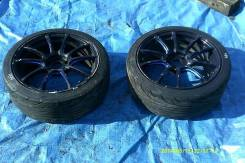 Пара колес WEDS SA 55 M R18 8JJ с хорошей резиной. 8.0x18 5x114.30 ET35