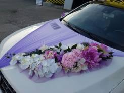 Свадебное украшение автомобилей, а также автомобили с украшением