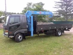 Mitsubishi Fuso. Бортовой грузовик с манипулятором, 8 200 куб. см., 5 000 кг.