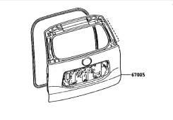 Дверь багажника. Lexus GX460 Toyota Land Cruiser Toyota Land Cruiser Prado, TRJ150, GRJ151, GRJ150 Двигатели: 1GRFE, 2TRFE