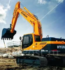Hyundai R220LC. Экскаватор -9S (на болотной гусенице), 0,92куб. м.