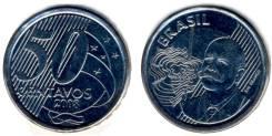 Бразилия 50 сентаво 2005-2009 гг. (иностранные монеты)