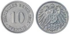 Германия - 10 пфенингов 1912 год