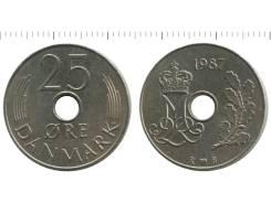 Дания 25 эре 1988 год (иностранные монеты)
