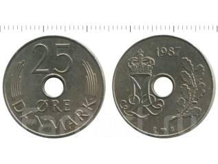 Дания 25 эре 1988 год