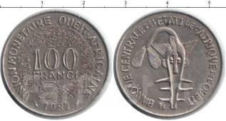 Западная Африка - 100 франков 1982 год (иностранные монеты)