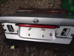 Эмблема багажника. Nissan Sunny, SB15, FB15, JB15, B15 Двигатели: SR16VE, QG13DE, QG15DE