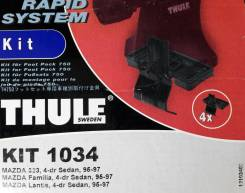 Крепёжный комплект для багажника Thule 1034 Mazda 323, 4-dr sedan, 95-97, Mazda Familia, 4-dr sedan, 95-97, Mazda Lantis, 4-dr sedan, 95-97