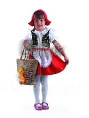 7002 Батик Карнавальный костюм Красная шапочка. Рост: 98-104, 104-110 см. Под заказ