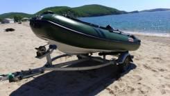 Лодку RiB c мотором и телегой. Год: 2014 год, длина 3,50м., двигатель подвесной, 15,00л.с., бензин