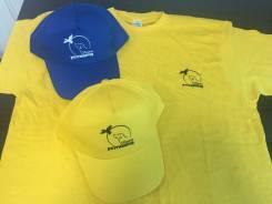 Печать логотипа на футболках, бейсболка! Футболки с печатью!