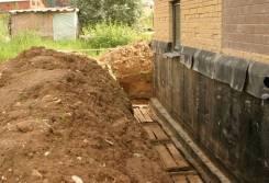 Дренаж вокруг фундамента, отвод воды в Хабаровске