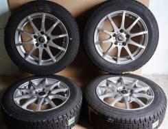 Зимний комплект колес 195/60R16 Goodyear + A-Tech R16 5x114. 6.5x16 5x114.30 ET35 ЦО 72,0мм.