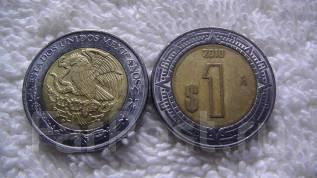 Мексика 1 песо биметалл