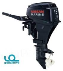 Nissan Marine. 15,00л.с., 2-тактный, бензиновый, нога S (381 мм), Год: 2017 год