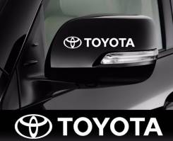 Наклейка Toyota на зеркала. Доставка по стране бесплатно