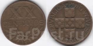 Португалия 20 сентаво 1960 год (иностранные монеты)