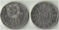 Португалия 20 эскудо 1987 год (иностранная монета)