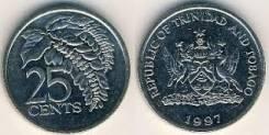 Тринидад и Табагго 25 центов 1997г