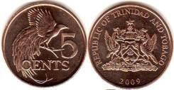 Тринидад и Тобаго 5 центов 1995г.