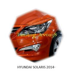 Накладка на фару. Hyundai Solaris