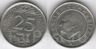 Турция 25 куруш 2009 год (иностранные монеты)