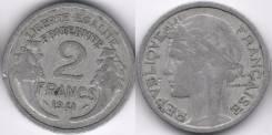 Франция 2 франка 1941 год (иностранные монеты)