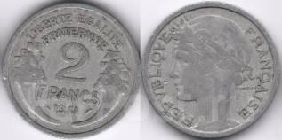 Франция 2 франка 1941 год