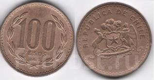 Чили 100 песо 1984 год (иностранные монеты)