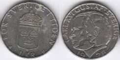 Швеция 1 крона 1978 год (иностранные монеты)