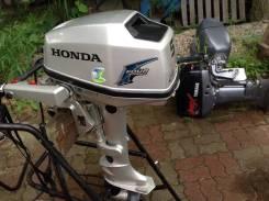 Honda. 5,00л.с., 4х тактный, бензин, нога S (381 мм), Год: 2007 год