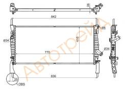 Радиатор FORD TRANSIT 2.2TD/2.3/2.4TD 2006- W A/C SAT SG-FD0006-06-1