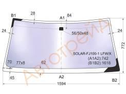 Стекло лобовое в клей TOYOTA LAND CRUISER/LEXUS LX470 98-07 XYG SOLAR-FJ100-1 LFW/X