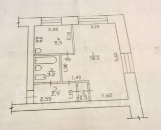 1-комнатная, улица Лазо 110. 34 квартал, частное лицо, 30 кв.м.