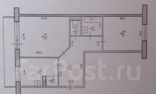 2-комнатная, улица Лазо. Ярославский, частное лицо, 50 кв.м. План квартиры