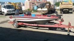 Продам скоростную рыбацкую лодку. длина 5,10м., двигатель подвесной, 140,00л.с., бензин